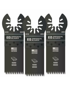 "Imperial Blades IBOA220-3P1K 1-1/4"" HCS Oscillating Saw Blade 3+1 Free Pack for Wood/PVC"