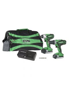 Metabo HPT KC18DGLS 18V Hammer Drill and Impact Driver Combo Kit, 1.5Ah Batteries