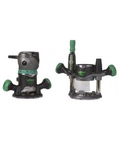 Hitachi KM12VC 2-1/4 HP Variable Speed Fixed/Plunge Base Router Kit, 11 Ah Batteries