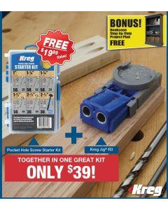 Kreg R3-PROMO-19 Jig Pocket Hole Kit with Screws