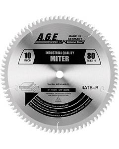 Miter Saw Blades - 5° Negative Hook - 4 ATB & 1 Raker