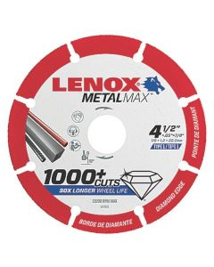 "1972921 MetalMax 4-1/2"" Diamond Cutoff Wheel, 7/8"" Arbor"