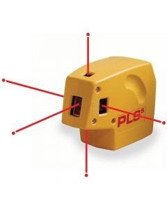 Pacific Laser Systems PLS 5 Red 5-Beam Point-to-Point Laser Level with HVD Laser Detector (PLS-60542)