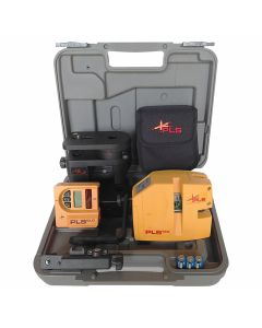 Pacific Laser Systems PLS 480 KIT Red Laser Level Kit with SLD Detector, Tripod & Grade Rod (PLS-60613)