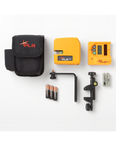 Pacific Laser Systems PLS 180 Red Self-Leveling Cross Line Laser Level System  with SLD Detector (PLS-60522N)