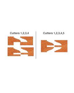 CNC Insert Profile-Counter/Profile Router Bit Set -Classical Cove & Bead