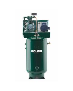 Rolair V5160K28B-19 60-Gallon 2-Stage Vertical Compressor, 5 HP, Single Phase, with Mag Starter Installed