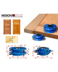 Stile & Rail Cabinet Door Cutter Sets - Tongue and Groove