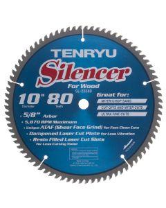 """Tenryu SL-25580 10"""" 80T ATAF Silencer Saw Blade"""