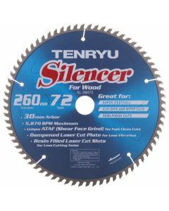 Tenryu SL-26072 260mm 72T ATAF Silencer Saw Blade for Kapex Miter Saw