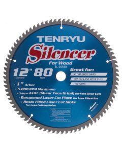 """Tenryu SL-30580 12"""" 80T ATAF Silencer Saw Blade"""