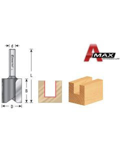 Straight Plunge Cutting Router Bits, 1/4 Shank, 2 Flute (High Production)