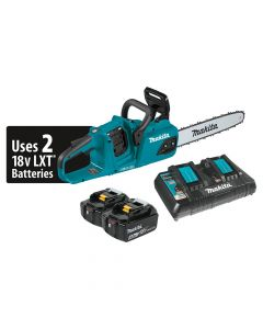 "Makita XCU07PT 18V X2 LXT Cordless 14"" Chain Saw Kit, 5.0Ah Batteries"