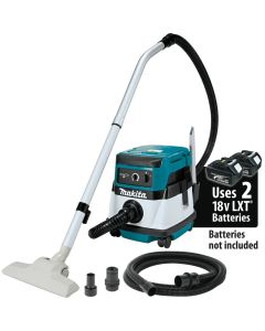 Makita XCV04Z 18V X2 LXT Lithium‑Ion (36V) Cordless/Corded 2.1 Gallon HEPA Filter Dry Dust Extractor/Vacuum, Bare Tool