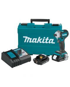 Makita XDT12R 18V LXT Brushless Quick Shift Mode Impact Driver Kit, 2.0Ah Batteries