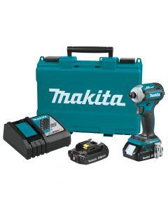Makita XDT16R 18V LXT Compact Brushless Impact Driver Kit, 2.0Ah Batteries