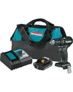 "Makita XFD11R1B 18V LXT Sub-Compact Cordless 1/2"" Drill Kit, 2.0 Ah Batteries"