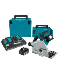 "Makita XPS01PTJ 18V X2 LXT Lithium-Ion (36V) Brushless Cordless 6-1/2"" Plunge Circular Saw Kit, 5.0Ah Batteries"