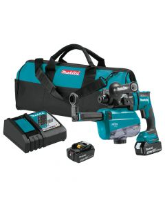 """Makita XRH12TW 11/16"""" 18V LXT Brushless Rotary Hammer Kit with HEPA Dust Extractor"""