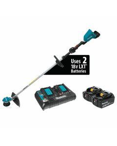 Makita XRU09PT 18V X2 (36V) LXT Lithium‑Ion Cordless String Trimmer Kit, 5.0Ah Batteries