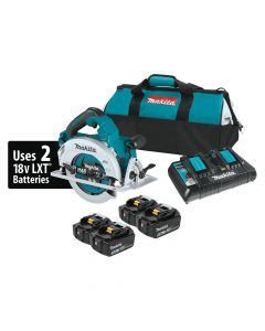 "Makita XSH06PT1 18V X2 LXT Lithium-Ion (36V) Cordless 7-1/4"" Circular Saw Kit with 4 Batteries (5.0Ah)"