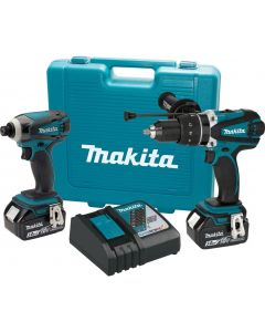 Makita XT218 18V LXT Lithium‑Ion Cordless 2‑Piece Combo Kit, 3.0Ah Battreies
