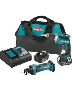 Makita XT255MB 18V LXT Lithium‑Ion Cordless 2‑Piece Combo Kit, 4.0Ah Batteries