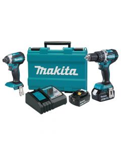 Makita XT269M 18V LXT Lithium‑Ion Cordless 2‑Piece Combo Kit, 4.0Ah Batteries