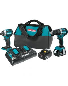 Makita XT275PT 18V LXT Lithium‑Ion Brushless Cordless 2 Piece Combo Kit, 5.0Ah Batteries