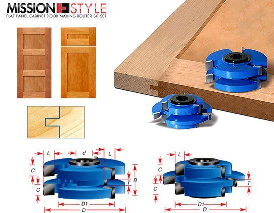 sc 1 st  Burns Tools & Stile \u0026 Rail Cabinet Door Cutter Sets - Tongue and Groove