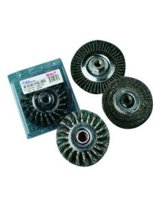 "03440 4"" Pipeline Wire Wheel with 5/8-11 Thread (Stringer Bead)"