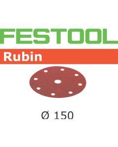 """Festool 499121 6"""" P120 Grit, Rubin2 Abrasives, Pack of 50"""