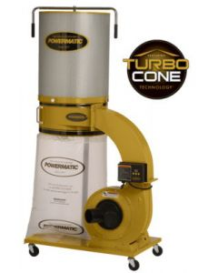 Powermatic 1791079K PM1300TX-CK Dust Collector with Turbo Cone Technology, 1.75HP 1PH 115/230V, 2-Micron Canister Kit