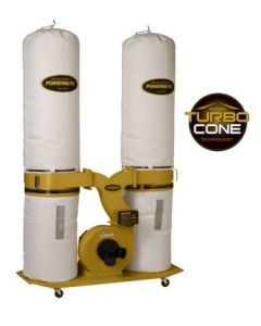 Powermatic 1792073K PM1900TX-BK3 Dust Collector with Turbo Cone Technology, 3HP 3PH 230/460V, 30-Micron Bag Filter Kit