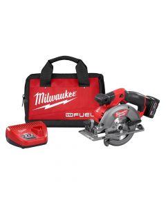 "Milwaukee 2530-21XC M12 Fuel 12V Lithium-Ion Cordless 5-3/8"" Circular Saw Kit, 4.0Ah Batteries"