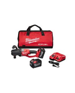 Milwaukee 2708-22HD M18 FUEL Cordless Hole Hawg Right Angle Drill Kit with Quik-Loc, 18V 9.0 Ah Batteries