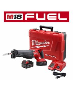 Milwaukee 2720-22 M18 Fuel 18V Lithium-Ion Cordless Sawzall Reciprocating Saw Kit, 5.0Ah Batteries