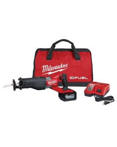 Milwaukee 2722-21HD M18 Fuel 18V Cordless Super Sawzall Kit, 12Ah Batteries