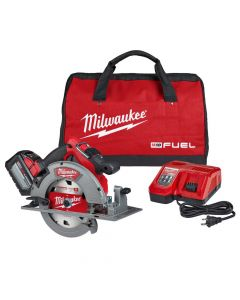 "Milwaukee 2732-21HD M18 Fuel 18V Cordless 7-1/4"" Circular Saw Kit, 12Ah Batteries"