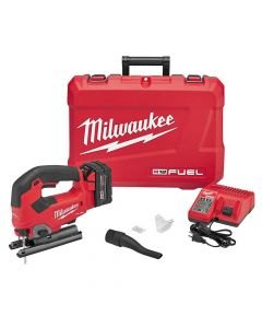 Milwaukee 2737-21 M18 Fuel 18V Cordless D-Handle Jig Saw Kit, 5.0Ah Batteries