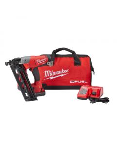 Milwaukee 2742-21CT M18™ FUEL™ Cordless Angled Finish Nailer Kit, 16 gauge