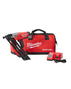 Milwaukee 2743-21CT M18™ FUEL™ Cordless Angled Finish Nailer Kit, 15 gauge