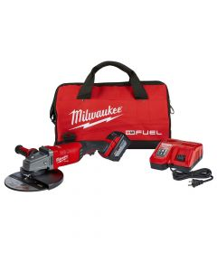 "Milwaukee 2785-21HD M18 18V Fuel Cordless 7""/9"" Large Angle Grinder Kit, 12Ah Batteries"