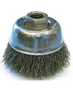 "32019 3"" x 1/2-13 .014 Crimp Wire Brush Cup"