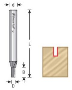 Straight Plunge Cutting Router Bits, 1/4 & 3/8 Shank, Single Flute (High Production)