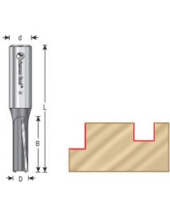 Production Shear Straight Plunge Router Bits, 3° Down Shear