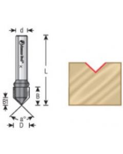 V-Groove Router Bits, Carbide Tipped