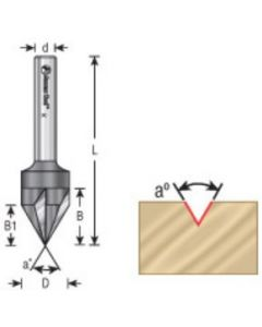 Signmaking and Lettering V-Groove Router Bits