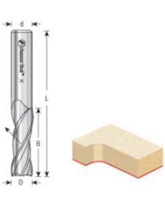 CNC Solid Carbide Spiral Plunge Router Bits, Up-cut, 3-Flute