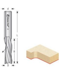 CNC Solid Carbide Spiral Plunge Bits, 3 Flute, Downcut